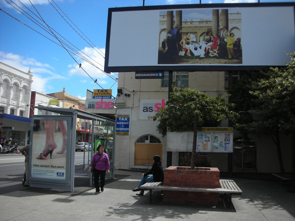 Billboard exhibited corner of Church St and Bridge Rd, Richmond