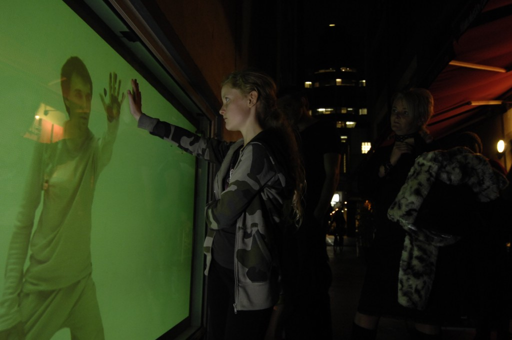 Interactive rear projection exhibited Manchester Lane, Melbourne